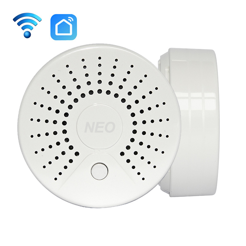 Smart Wireless WiFi Smoke Detector Alarm Sensor Battery Power Via IOS Android APP Notification No HUB Requirement