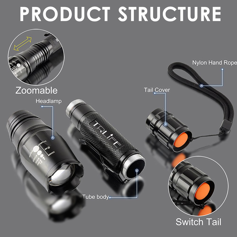15000LM X800 LED Flashlights Ultra Bright Rechargeable L2 T6 Lamp Beads Zoomable Torch Linterna Adjustable for Camping Hiking in LED Flashlights from Lights Lighting