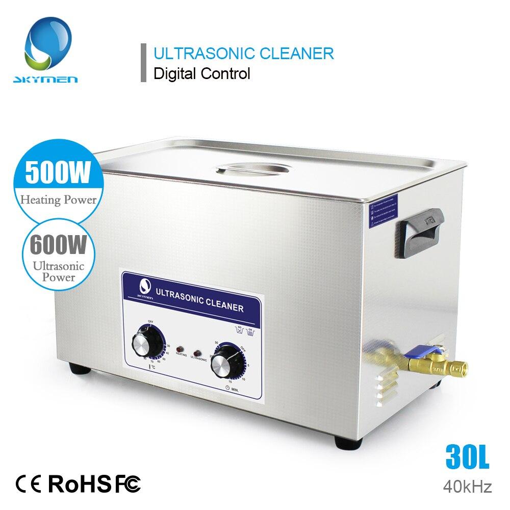 SKYMEN 30L 600 W Pulitore Ad Ultrasuoni Bagno Iniettore Motore Ricambi Auto Medical Lab Macchina di Pulizia con Riscaldata Timer