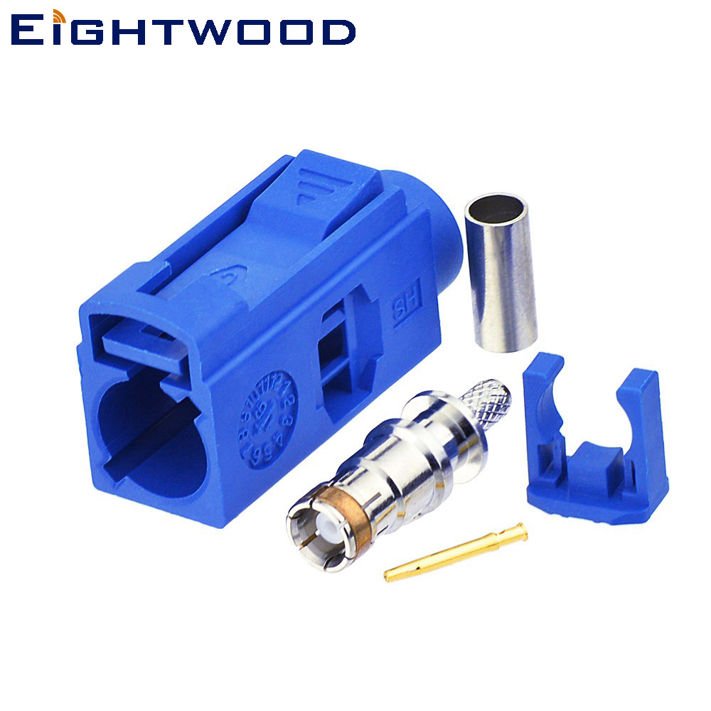 Eightwood Car GPS Telematics or Navigation Antenna Connector Fakra C Blue/5005 Female Crimp for RG316 RG174 LMR100 Cable (20PCS)