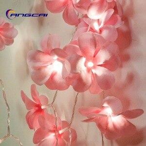 Pink cloth frangipani LED Stri