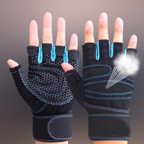 Training-Gloves Lifting Protect-Wrist Fitness-Weight Gym Half-Finger One-Pairs DMARCO