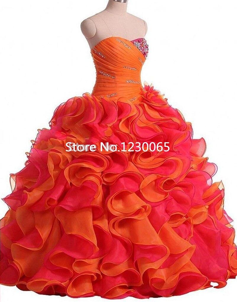 Vestidos de Debutante 2017 douce 15 ans Quinceanera robe pas cher volants à plusieurs niveaux Organza robe de bal robe de bal robe pour le bal