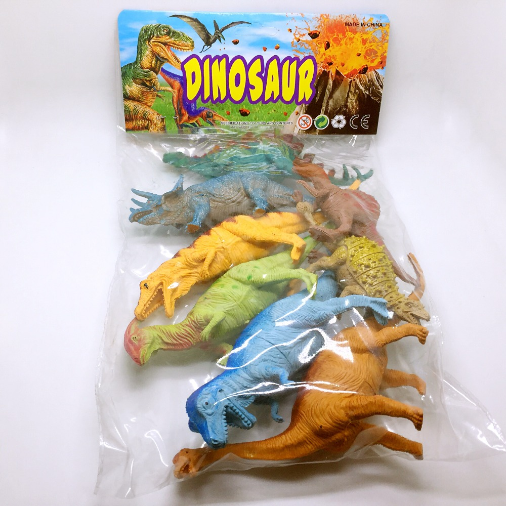 8PCS/Pack Wild Dinosaur toy Action & Toy Figures PVC Animal Model Educational Kids Christmas Gift toys patrulla canina with shield brinquedos 6pcs set 6cm patrulha canina patrol puppy dog pvc action figures juguetes kids hot toys
