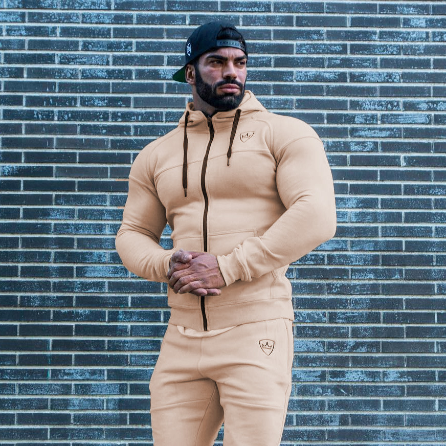 CHUQING Autumn And Winter Leisure Fitness Sports Running Suit Men's Hooded Sweater Pants