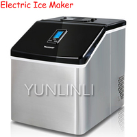 24 Ice Tray Electric Ice Maker Commercial & Household Stainless Steel Manual Adding Water Ice Making Machine HZB 20FS