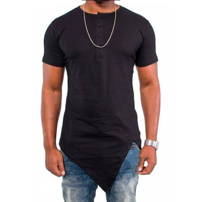 2016 dété de mode irrégulière Hip Hop T shirt design Butin coton o t