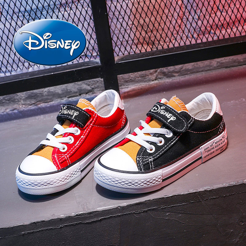 Disney Children Casual Shoes Unisex 2019 Classic  Top Girls Canvas Shoes Student Lace up Sneakers for Boys New Toddler ShoesDisney Children Casual Shoes Unisex 2019 Classic  Top Girls Canvas Shoes Student Lace up Sneakers for Boys New Toddler Shoes