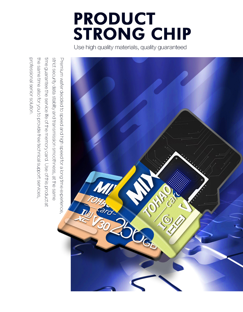 High Capacity Memory Card 80MB/S Class10 UHS-1 flash memory card