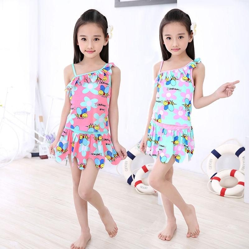 Aliexpress.com : Buy 2018 flower Kids swimsuit children ...