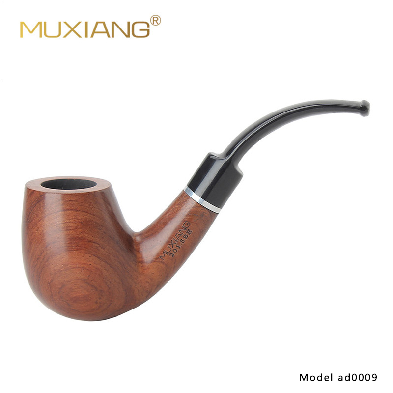MUXIANG 10 Tools Kit Smoking Pipe 9mm Filter Bubinga kevazingo wood Tobacco Pipe for Beginners Collection or Gift for Men ad0009