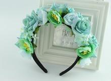 Handmade Flower Headband Woman Girls Wedding Party Hair Accessories Bride Bridesmaid Garland Tiara Headpiece