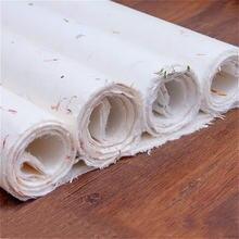 Ручная работа цветок трава полусырая полуспелая xuan бумага