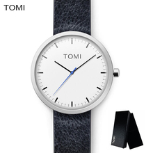 TOMI Vintage Leather Strap Women Watch Fashion Casual Quartz Men Watches Simple Style Elegant Ladies Wristwatch