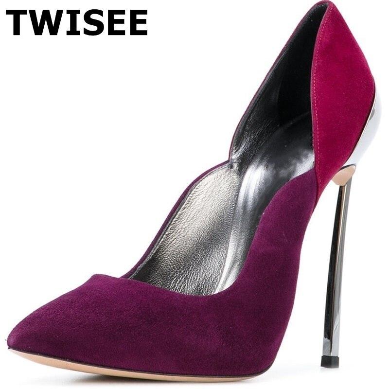 Sapatos de salto alto туфли лодочки свадебные туфли Горячая распродажа! модные с острым носком тонкий Обувь на высоком каблуке 11 см повседневные шелк