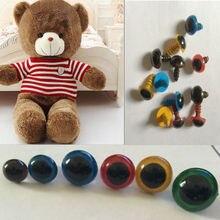 100pcs Plastic Doll Eyes Safety Eyes For Teddy Bear Stuffed Toys Snap Animal Scrapbooking Puppet Dolls Craft Eyes For Toy 8mm все цены