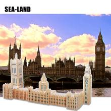 цены A Kids Toy Of 3D Wooden Puzzle For Children Palace of Westminster A Best Montessori Educational DIY Toy As Hobby Gift For Family