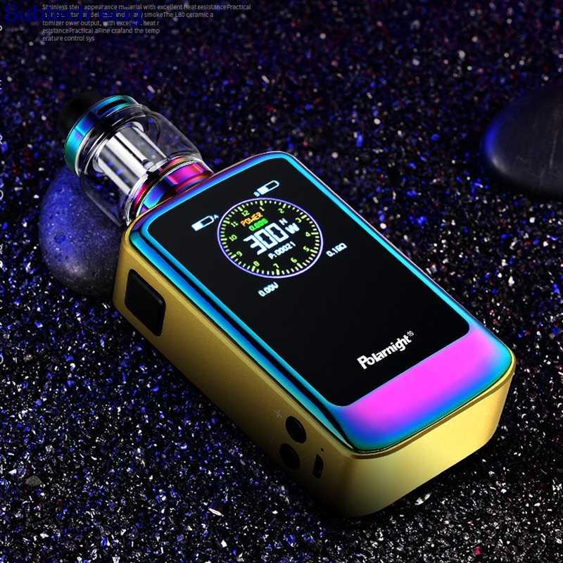 Электронные сигареты SUB два 300 Вт TC поле MOD kit 5 мл бак 1,3-дюймовый светодиодный дисплей экран 300 Вт огромный выход мощность два 18650 Батарейный мод для электронных сигарет