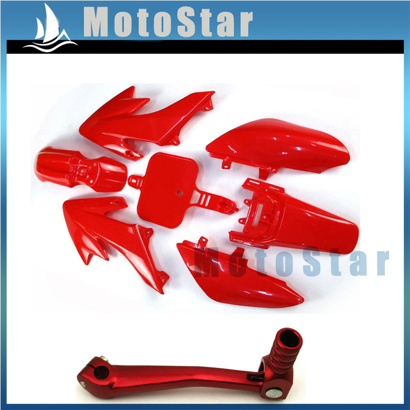 Red Alloy Gear Lever Fits Honda CRF50F 2012 2013 2014 2015 2016 2017 2018