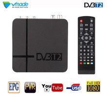 vmade DVB T2 TV Tuner DVB-T2 WIFI Receiver Full-HD 1080P Digital Smart Box Support MPEG H.264 I PTV Built-in Russian manual