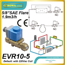 5/8″ SAE Flare (1.9m3/h) solenoid valve with coilid installed  in suction line of refrigeration equipment and air conditioner