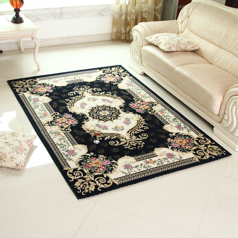 Luxury European Beige/Dark blue/red Carpets Classical Non-slip Self-adhesive Carpet Floral/Plant Stair Treads bedroom parlor