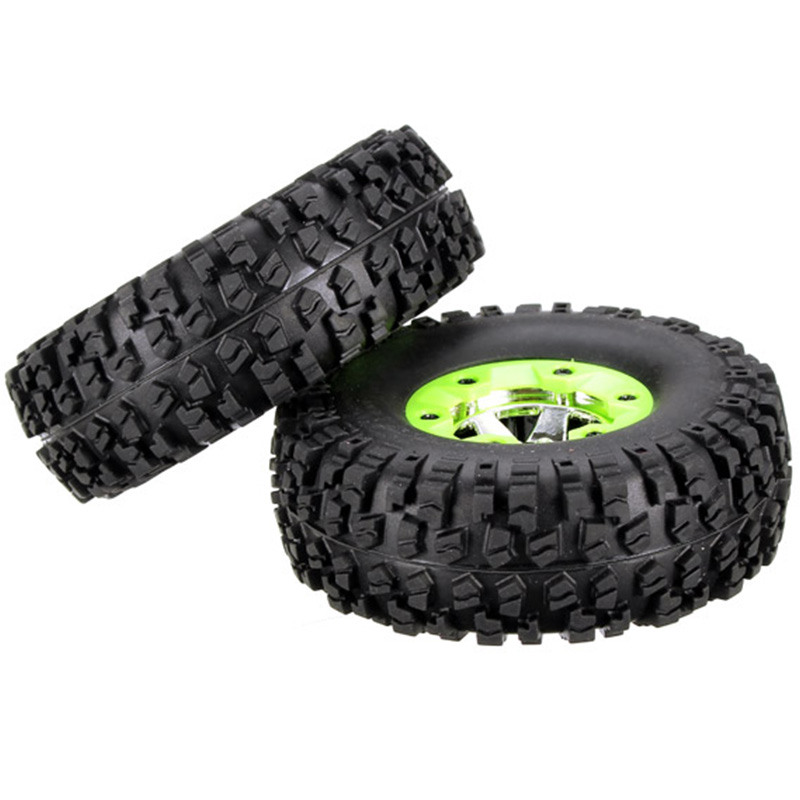 2Pcs Wltoys Left & Right Tires Wheel Hub Kit For 1:12 RC Car Wltoys 12428 12423 0070 0071 Spare Replace Parts