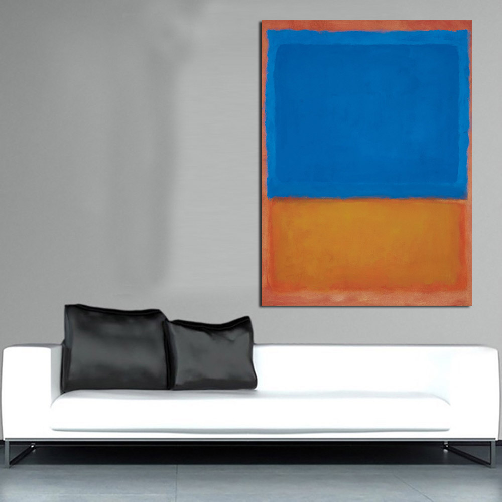 Mark Rothko Oil Painting Canvas Art Home Decor Wall Pictures For Living Room Modern No Frame Picture in Painting Calligraphy from Home Garden