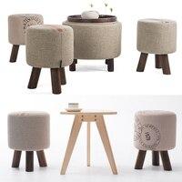 Wooden Furniture Fashion shoes stool wood ottoman stool dressing minimalist pure cotton fabric sofa,wood furniture wait stool