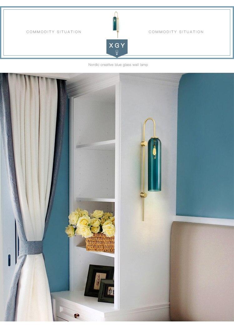do hotel lâmpada parede cor cobre