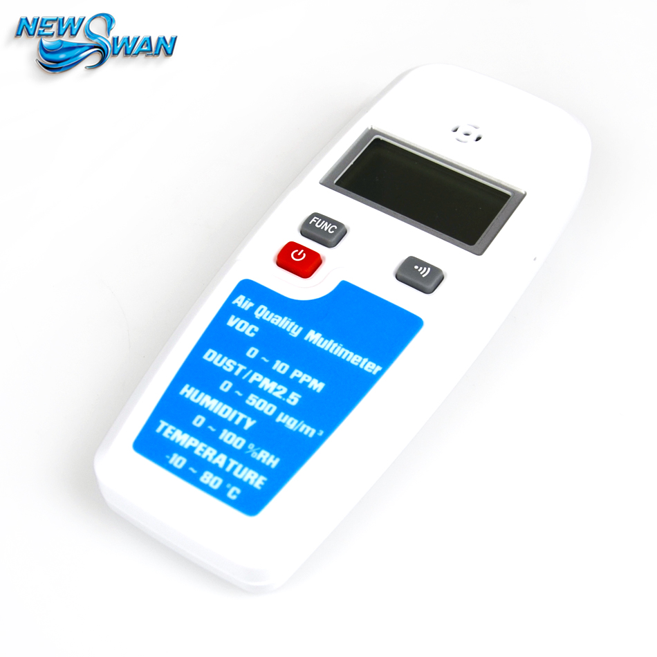 EET100 LCD Air Quality Multimeter Dust VOC Temperature Humidity Meter Atmosphere Detector Haze PM2.5 Formaldehyde Alcohol Tester