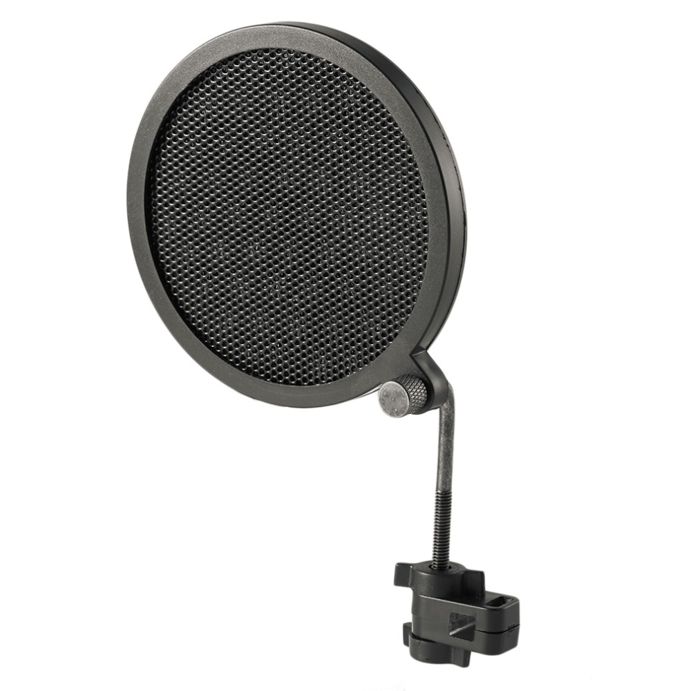 PS 2 Double Layer Studio Microphone Mic Wind Screen Pop Filter/ Swivel Mount / Mask Shied For Speaking Recording stand-in Mic Stand from Consumer Electronics