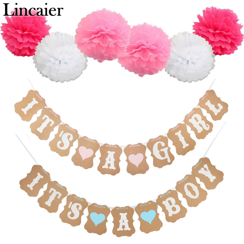 Lincaier Baby Shower 3m Paper Its A Boy Girl Banner Party