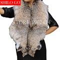 Envío Libre 2017 de invierno nuevas mujeres de la moda de alta calidad SUPERIOR de encargo de lujo importado de Canadá lince de cuello chal de piel