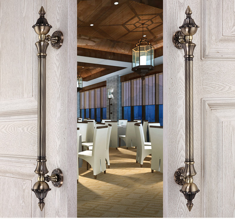 Premintehdw European Villa Hotel Entrance Gate Door Handle Pull With Screws entrance door handle solid wood pull handles pa 377 l300mm for entry front wooden doors