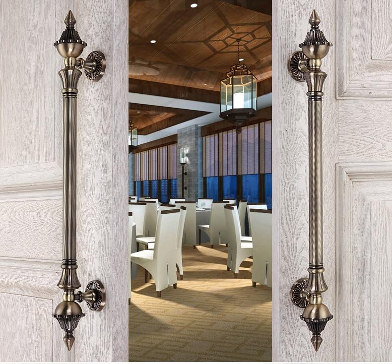 Premintehdw European Villa Hotel Entrance Gate Door Handle Pull With Screws european modern bronze doors handle chinese antique glass door handle door handle carving