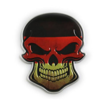 CDCOTN 2PCS 3D Car Stickers Metal Skull Doodle DIY Personality Body Sticker Interior Decoration Accessories Styling