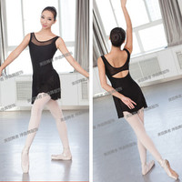 Free Shipping Red Black Blue Dress Sexy S XL Dancewear Ballet Leotard Gymnastics Women Girl Dance