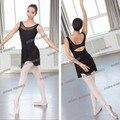 Free shipping Red Black Blue dress sexy M-XXL Dancewear Ballet Leotard gymnastics women girl dance clothes ballet gym suit adult