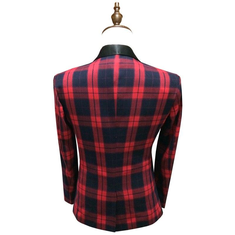 Cloudstyle 2018 traje masculino hombres de lujo traje chaqueta Venta  caliente Plaid 3D traje Homme Patchworked Blazer hombre vestido Casual de  negocios en ... c3a6fcaa807