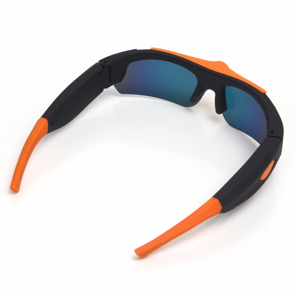 HD 1080P Sunglasses Mini Camera Wide angle 120 degrees Black Orange Mini DV Camcorder DVR Video