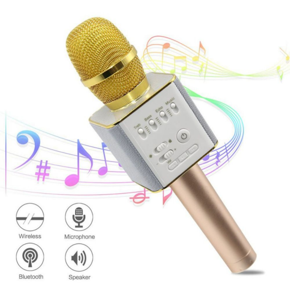 Universal Wireless Bluetooth Karaoke Microphone Professional Player Speaker USB KTV Mic Player For Iphone Android qiateng bluetooth speaker v4 1 wireless karaoke player microphone with mic ktv singing record microphone for smartphone computer