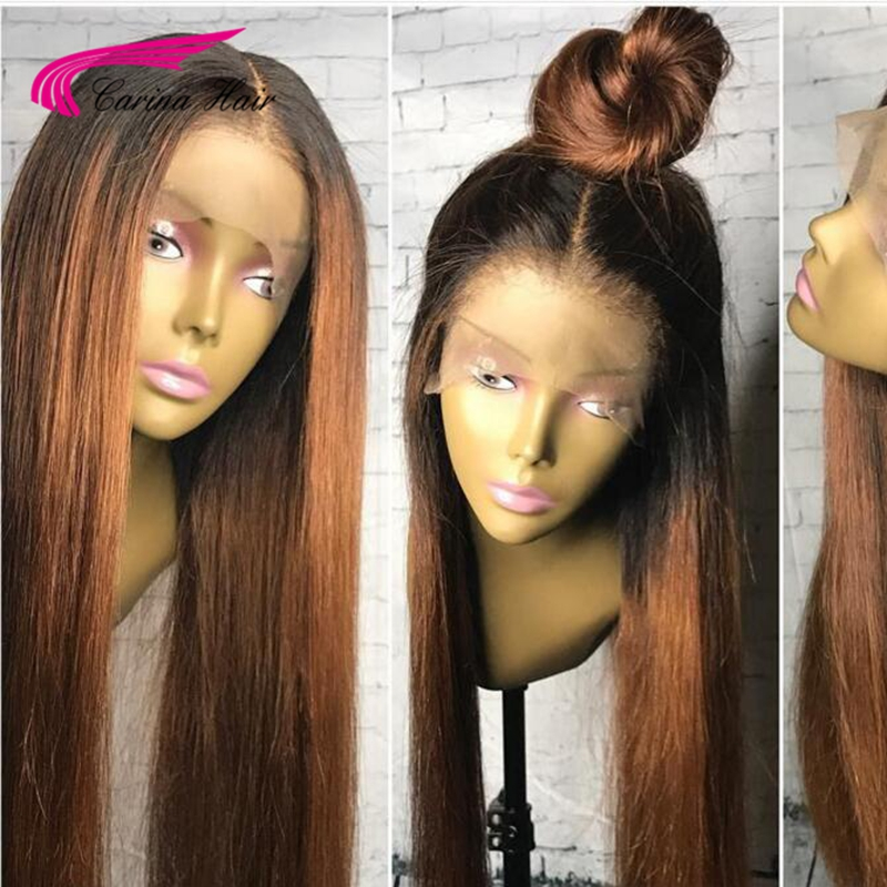 Carina Lace Front Human Hair Wigs With Baby Hair 13x6 Deep Middle Part Glueless Lace Wigs Malaysian Remy Hair