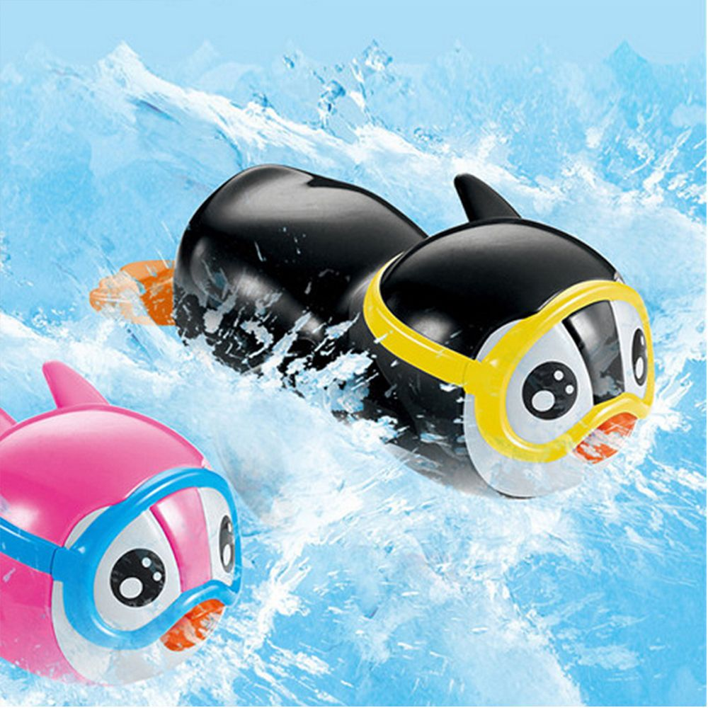 Baby Bath Toy Lovely Animal Play Water Pull String Penguin Boat Toy Clockwork Play Swimming Wind Up Educational Toy For Kids