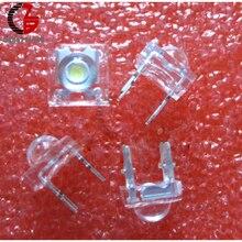 20 штук белый 5mme Piranha огнеупор высшего качества прозрачный СВЕТОДИОДНЫЙ Dom автомобильный светильник высокое качество 4 pin Широкий формат супер яркий светодиодный светильник