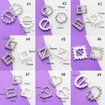 ¡De alta calidad! 10 unids/set variedad de hebillas de diamantes de imitación decoración de Tarjeta De Invitación De Boda accesorios para el cabello DIY envío gratis