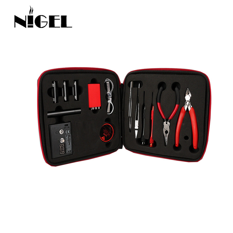 Nigel Vape Tools Wire Coil Tool Coiling Kit V2 for electronic cigarette DIY RDA RBA Atomizer Jig Tool Vape Coil men s briefcase vintage shoulder cowhide leather bags crossbody bags real genuine leather men messenger bag
