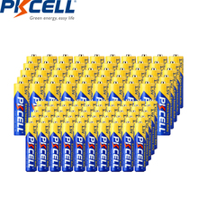 (100PCS/A lot) PKCELL AA R6P+AAA R03P battery 1.5V Carbon-Zinc Primary Batteries AA/AAA batteries each 50pcs