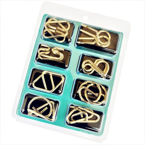 Image 5 - 8pcs/Set Metal Wire Puzzle IQ Mind Brain Teaser Puzzles Game Adults Children Kids Montessori Early Educational Toys A Nice Gift.