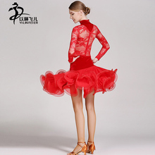 Latin Dance Dresses Cha Cha/Rumba/Samba/Ballroom/Tango Dance Clothing Black-red